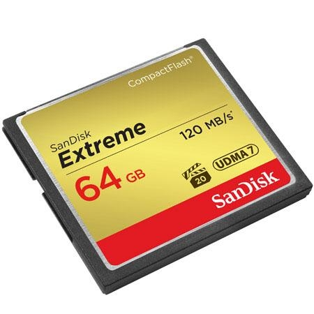Sandisk 64GB Extreme Compact Flash 120MB/s