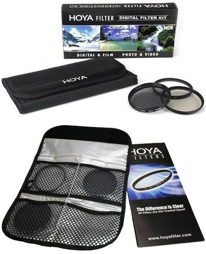 Hoya Digital Filter Kit (UV, C-POL, ND8 + kotelo)